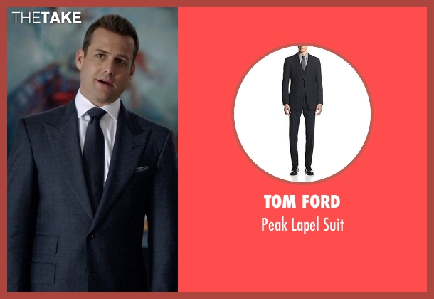 Tom Ford gray suit from Suits seen with Harvey Specter (Gabriel Macht)