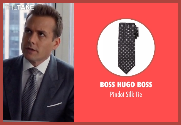 Boss Hugo Boss gray tie from Suits seen with Harvey Specter (Gabriel Macht)