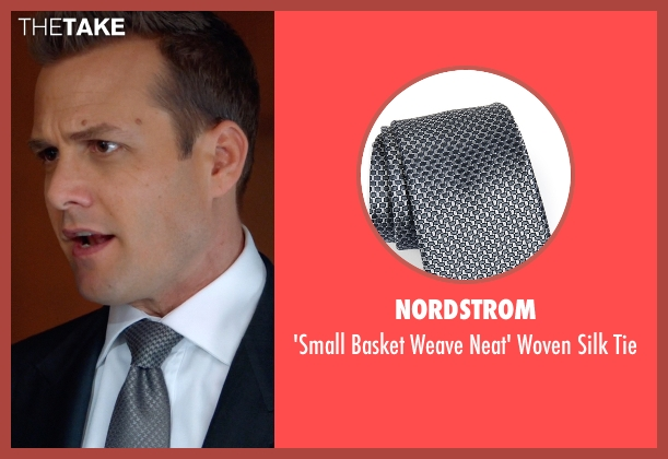 Nordstrom gray tie from Suits seen with Harvey Specter (Gabriel Macht)
