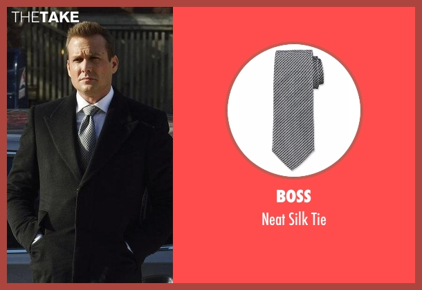Ermenegildo Zegna gray tie from Suits seen with Harvey Specter (Gabriel Macht)