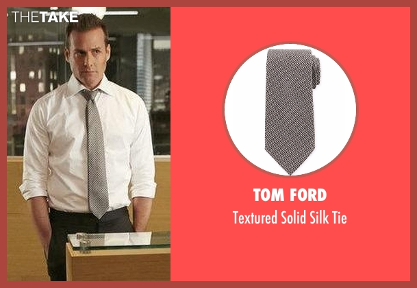 Tom Ford  gray tie from Suits seen with Harvey Specter (Gabriel Macht)