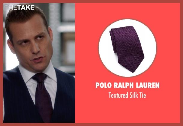 Polo Ralph Lauren purple tie from Suits seen with Harvey Specter (Gabriel Macht)
