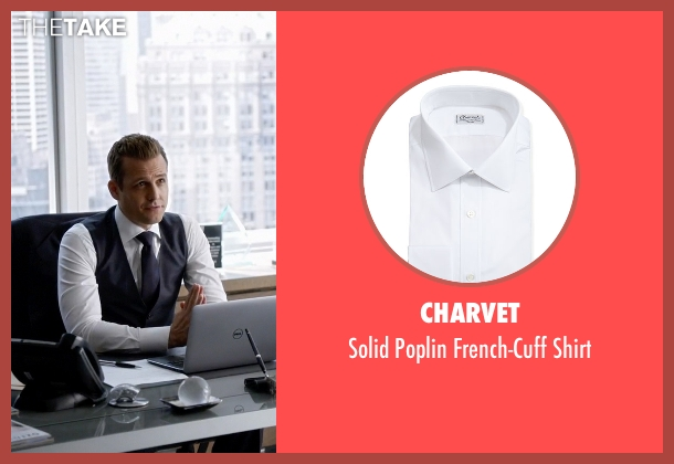 Charvet white shirt from Suits seen with Harvey Specter (Gabriel Macht)