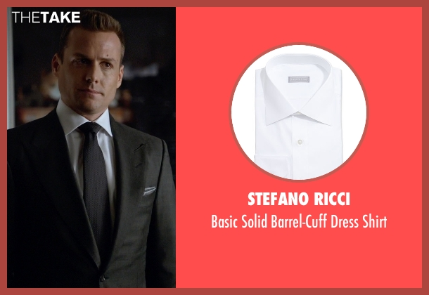 Stefano Ricci white shirt from Suits seen with Harvey Specter (Gabriel Macht)