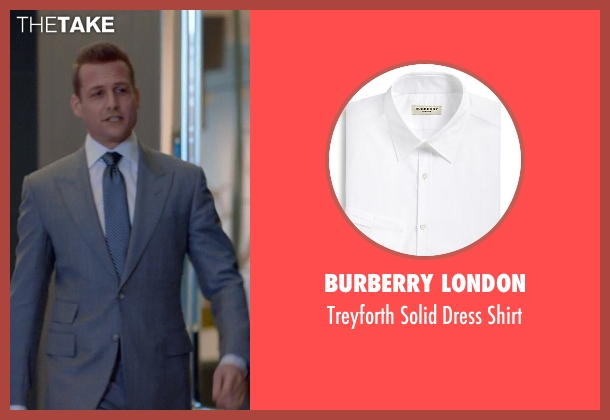 Burberry London white shirt from Suits seen with Harvey Specter (Gabriel Macht)