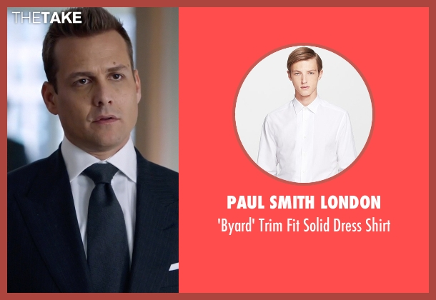 Paul Smith London white shirt from Suits seen with Harvey Specter (Gabriel Macht)