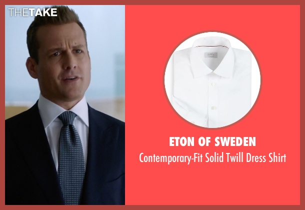 Eton of Sweden white shirt from Suits seen with Harvey Specter (Gabriel Macht)
