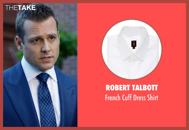 Robert Talbott white shirt from Suits seen with Harvey Specter (Gabriel Macht)