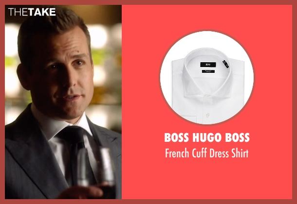 Boss Hugo Boss white shirt from Suits seen with Harvey Specter (Gabriel Macht)