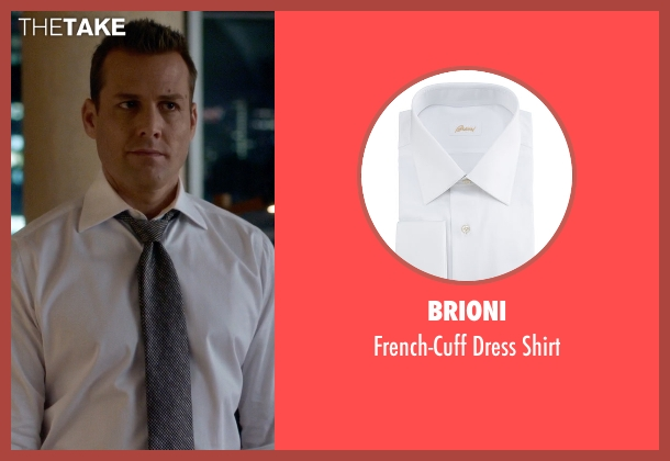 Brioni white shirt from Suits seen with Harvey Specter (Gabriel Macht)
