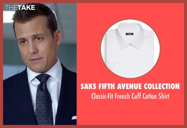 Saks Fifth Avenue Collection white shirt from Suits seen with Harvey Specter (Gabriel Macht)