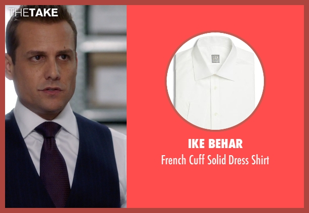 Ike Behar white shirt from Suits seen with Harvey Specter (Gabriel Macht)
