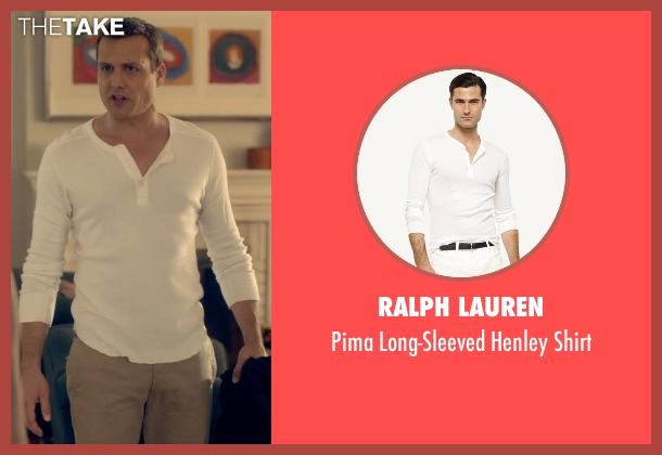 Ralph Lauren white shirt from Suits seen with Harvey Specter (Gabriel Macht)
