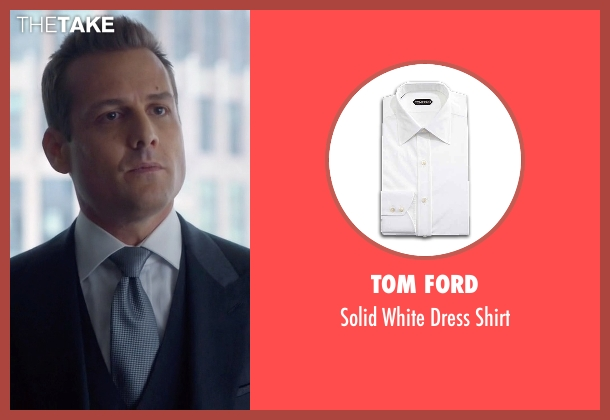 Tom Ford white shirt from Suits seen with Harvey Specter (Gabriel Macht)