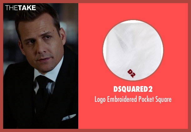 Dsquared2 white square from Suits seen with Harvey Specter (Gabriel Macht)