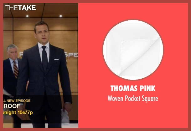 Thomas Pink white square from Suits seen with Harvey Specter (Gabriel Macht)