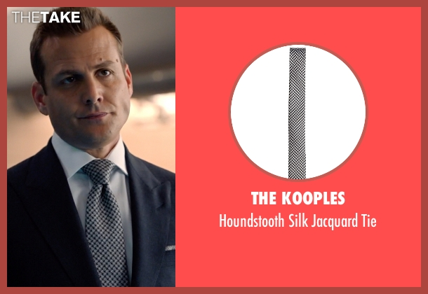 The Kooples white tie from Suits seen with Harvey Specter (Gabriel Macht)