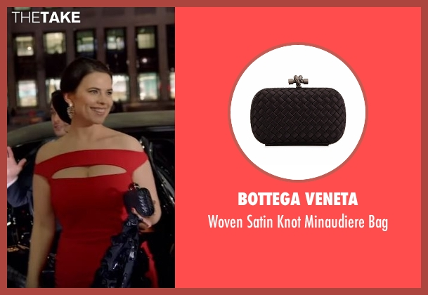 Bottega Veneta black bag from Conviction seen with Hayes Morrison (Hayley Atwell)