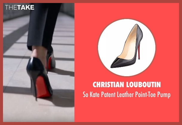 Christian Louboutin black pump from Conviction seen with Hayes Morrison (Hayley Atwell)