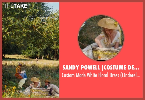 Sandy Powell (Costume Designer) white dress from Cinderella seen with Hayley Atwell (Cinderella's Mother)