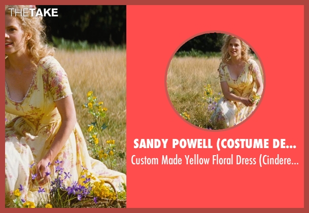 Sandy Powell (Costume Designer) yellow dress from Cinderella seen with Hayley Atwell (Cinderella's Mother)