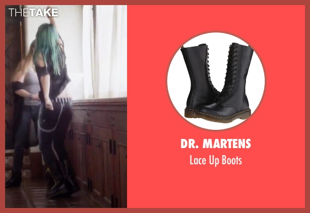 Dr. Martens black boots from Jem and the Holograms seen with Hayley Kiyoko (Aja)