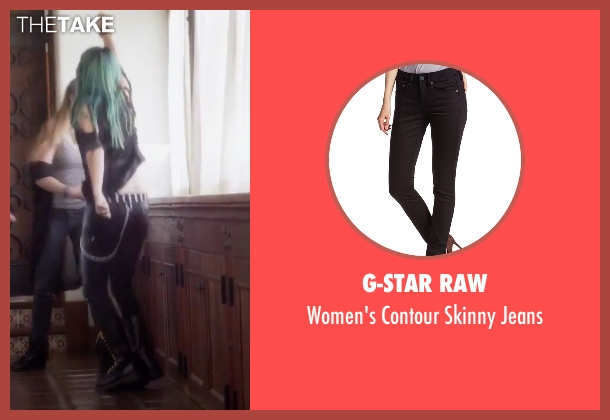 G-Star Raw black jeans from Jem and the Holograms seen with Hayley Kiyoko (Aja)