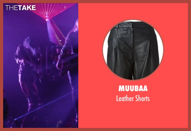 Muubaa black shorts from Jem and the Holograms seen with Hayley Kiyoko (Aja)
