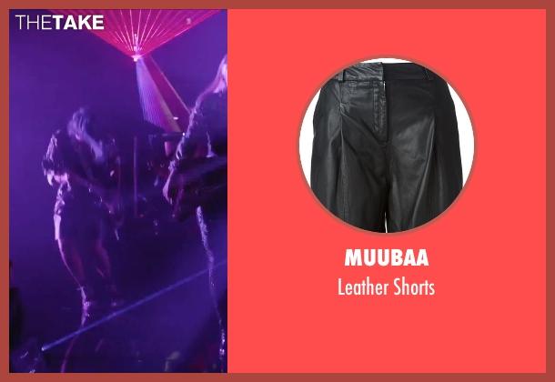 Muubaa black shorts from Jem and the Holograms seen with Hayley Kiyoko (Aja)