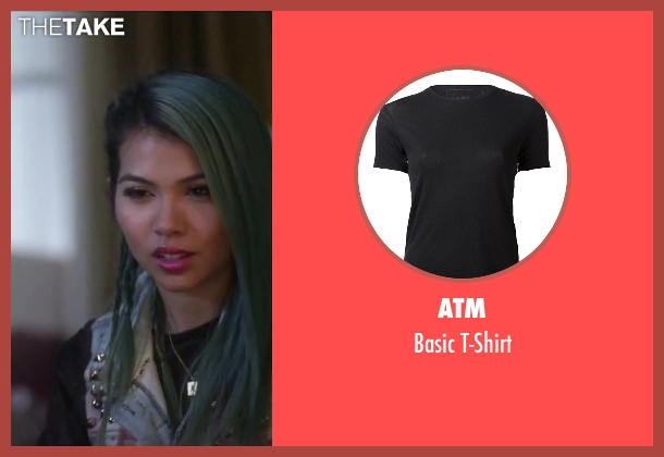 ATM black t-shirt from Jem and the Holograms seen with Hayley Kiyoko (Aja)