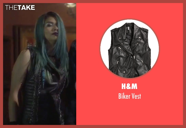 H&M black vest from Jem and the Holograms seen with Hayley Kiyoko (Aja)