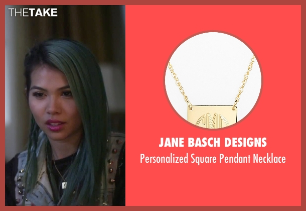 Jane Basch Designs gold necklace from Jem and the Holograms seen with Hayley Kiyoko (Aja)