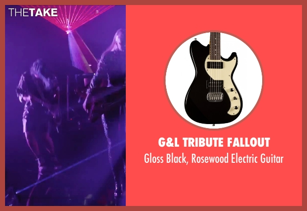 G&L Tribute Fallout guitar from Jem and the Holograms seen with Hayley Kiyoko (Aja)