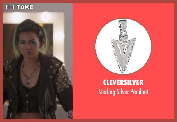 CleverSilver silver pendant from Jem and the Holograms seen with Hayley Kiyoko (Aja)
