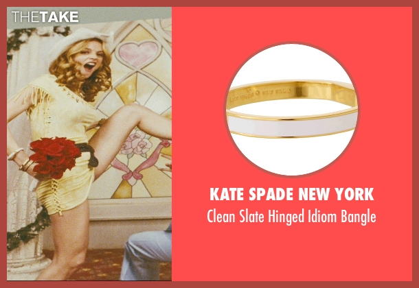 Kate Spade New York white bangle from The Hangover seen with Heather Graham (Jade)