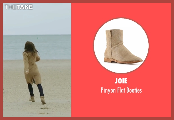Joie brown booties from Demolition seen with Heather Lind (Julia)