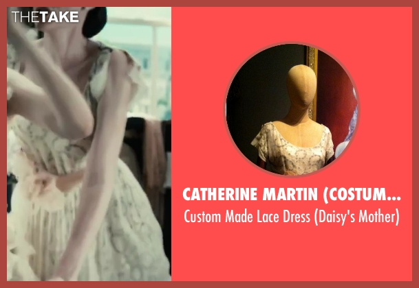 Catherine Martin (Costume Designer) beige dress from The Great Gatsby seen with Heather Mitchell (Daisy's Mother)