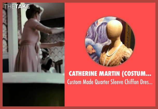 Catherine Martin (Costume Designer) pink dress from The Great Gatsby seen with Heather Mitchell (Daisy's Mother)