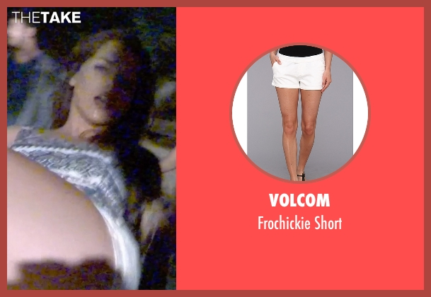 Volcom white short from Unfriended seen with Heather Sossaman (Laura)