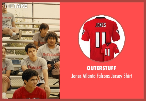 OuterStuff red shirt from McFarland, USA seen with Hector Duran (Johnny Sameniego)