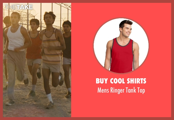 Buy Cool Shirts red top from McFarland, USA seen with Hector Duran (Johnny Sameniego)