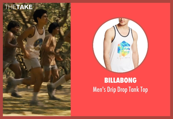 Billabong white top from McFarland, USA seen with Hector Duran (Johnny Sameniego)