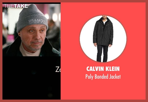 Calvin Klein black jacket from New Year's Eve seen with Hector Elizondo (Kominsky)