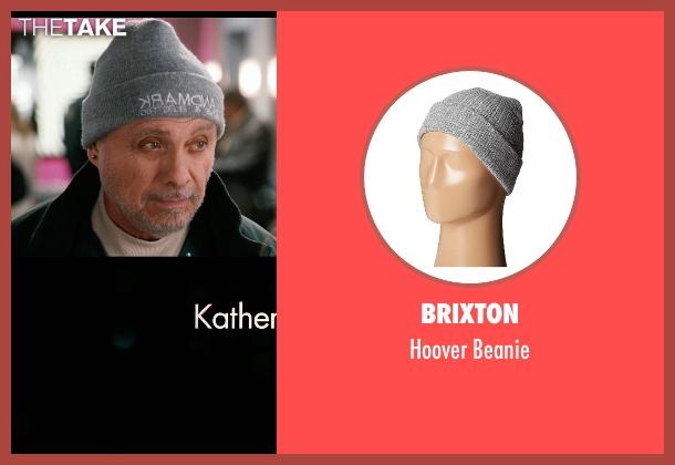 Brixton gray beanie from New Year's Eve seen with Hector Elizondo (Kominsky)