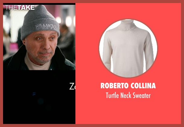 Roberto Collina white sweater from New Year's Eve seen with Hector Elizondo (Kominsky)