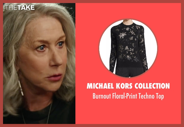 Michael Kors Collection black top from Collateral Beauty seen with Helen Mirren (Brigitte)