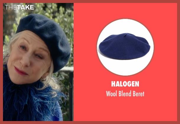 Halogen blue beret from Collateral Beauty seen with Helen Mirren (Brigitte)