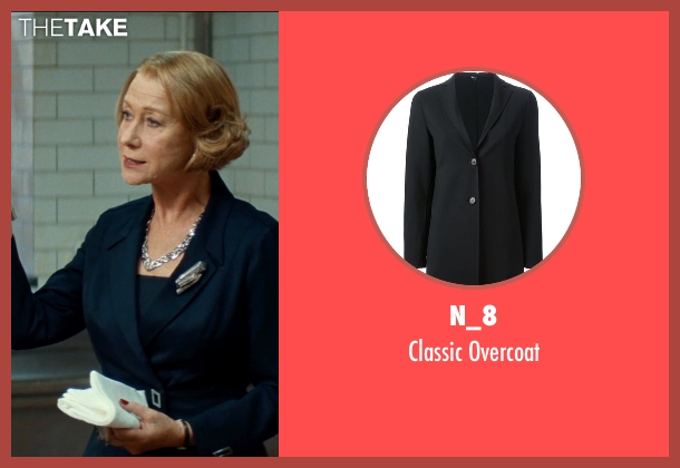 N_8 black overcoat from The Hundred-Foot Journey seen with Helen Mirren (Madame Mallory)
