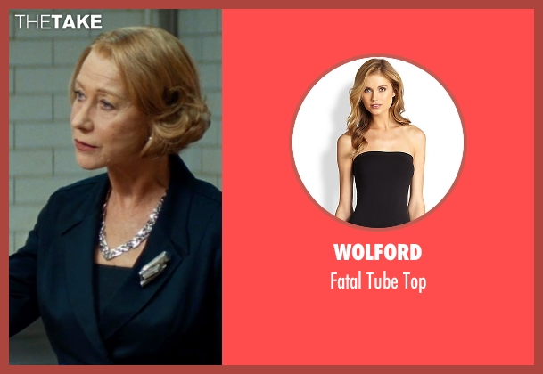Wolford black top from The Hundred-Foot Journey seen with Helen Mirren (Madame Mallory)