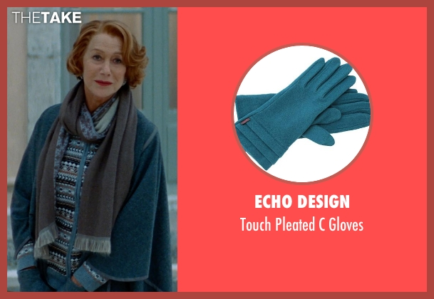 Echo Design blue gloves from The Hundred-Foot Journey seen with Helen Mirren (Madame Mallory)